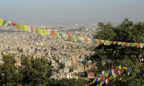 Zdjęcie NEPAL / Dolina Katmandu / Katmandu - panorama spod świątyni Swayambhunath / Panorama
