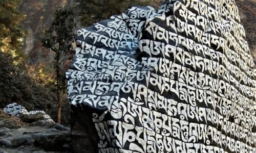 Zdjęcie NEPAL / Himalaje, dolina Dudh Kosi / Osada Tawa / Kamienie Mani