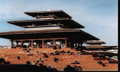 NEPAL / Kathmandu / Durbar Square / Świątynia Maju Deval (1690 r)