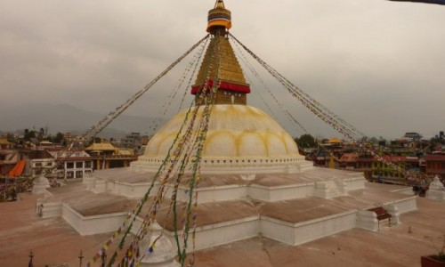 NEPAL / Azja / Kathmandu / Stupa Bodnath