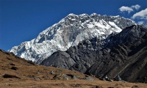 NEPAL / Himalaje, rejon Mt. Everest / ponad lodowcem Khumbu / Nuptse