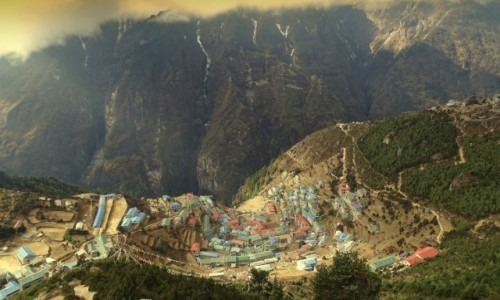 NEPAL / Himalaje - dystrykt Solukhumbu / Namche Bazar 3440 m n.p.m / Namche Bazar