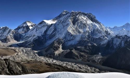 NEPAL / Himalaje, rejon Khumbu Glacier / szczyt Lobuche  / Panorama z wierzchołka Lobuche East