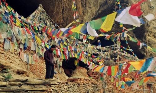 Zdjecie NEPAL / Mustang / okolice Syangboche / Lama w klasztor