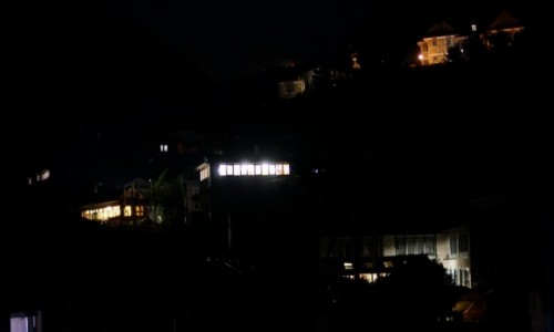 Zdjecie NEPAL / Khumbu / Monjo / Monjo by night