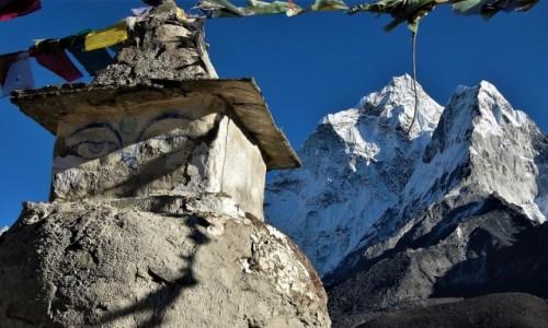Zdjecie NEPAL / Himalaje, rejon Ama Dablam / Dingboche / Oczy Buddy