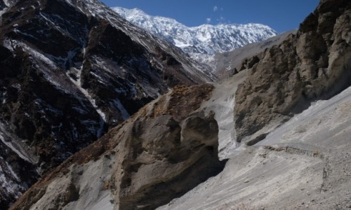 NEPAL / Annapurna Conservation Area / Landslide area / Szlak do Tilicho Base Camp