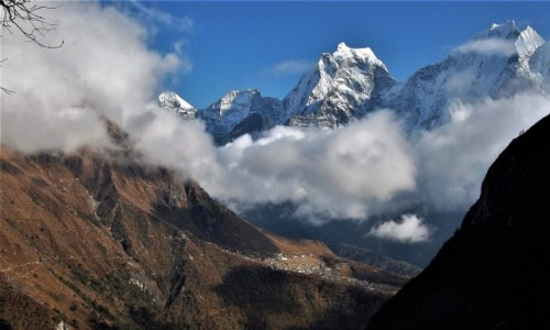 Zdjecie NEPAL / Himalaje / okolice osady Tenga / Thamserku i Kangtega