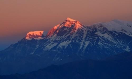 NEPAL / Annapurna Circuit / Poon Hill - widok o świcie na Dhaulagiri / To był spektakl!