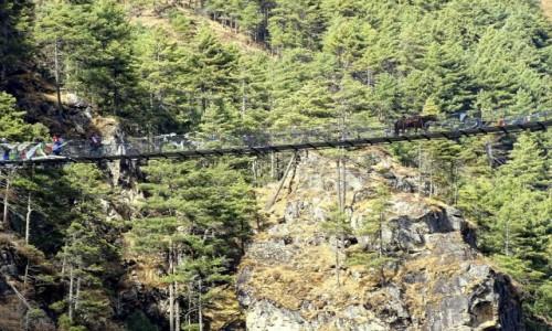 Zdjecie NEPAL / Himalaje - dystrykt Solukhumbu / w drodze do Namche Bazar / Mostek