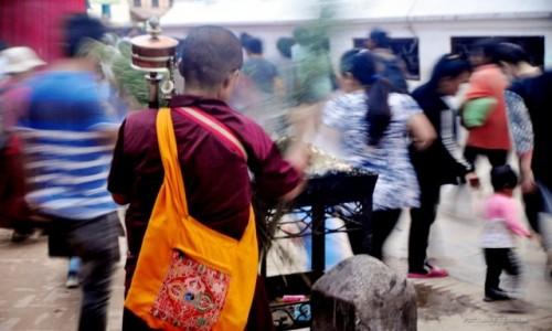 Zdjecie NEPAL / Kathmandu / Boudddanath / zatrzymanie