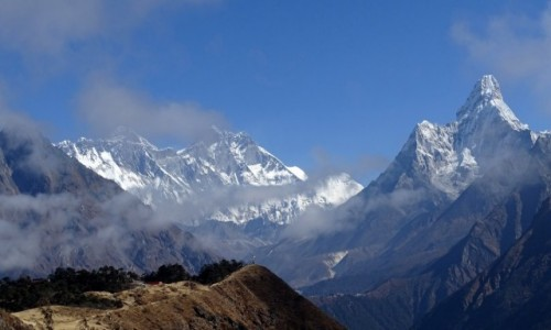 NEPAL / Himalaje - Sagarmatha National Park / ok. 4 tys  / Top of the world :)