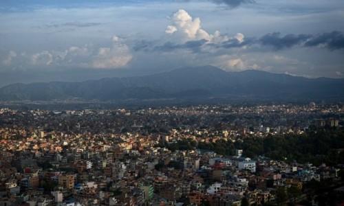 Zdjęcie NEPAL / Dolina Katmandu / Katmandu / zmierzch nad miastem...