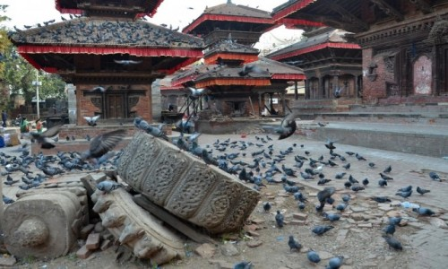 Zdjęcie NEPAL / Katmandu / Taleju Temple / śniadanie...