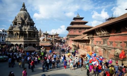 Zdjęcie NEPAL / Dolina Katmandu / Patan / deptak...