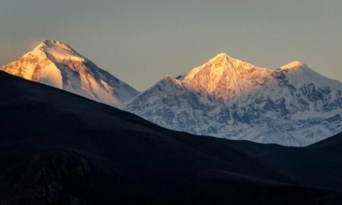 Zdjęcie NEPAL / Mustang / Jharkot / zapalanie szczytów...