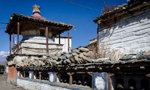 Zdjęcie NEPAL / Mustang / Jharkot / stupa...