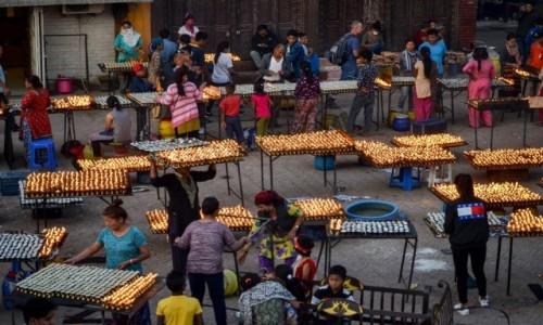 Zdjęcie NEPAL / Dolina Katmandu / Boudhanath / światło...