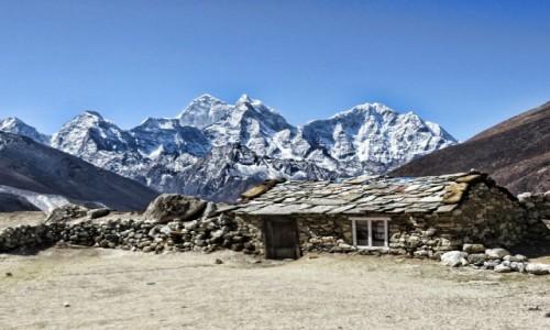 Zdjecie NEPAL / Khumbe / Lombuche / Chatka w Himalajach