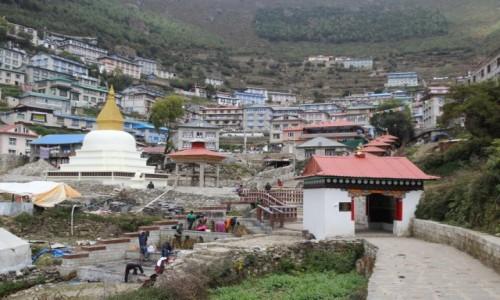 Zdjecie NEPAL / Park Narodowy Sagarmatha / Namche Bazar 3440 m n.p.m. / Namche Bazar wita!