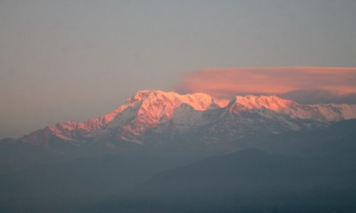Zdjęcie NEPAL / Pokhara / wzgorze Sarangot / O wschodzie slonca