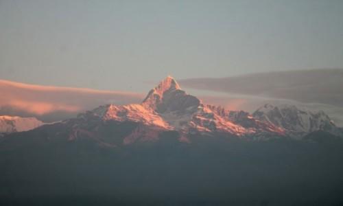 Zdjecie NEPAL / Pokhara / wzgorze Sarangot / O wschodzie slonca