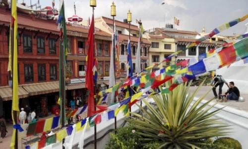 Zdjecie NEPAL / Nepal / Stupa Bodnath / Ze stupy Bodnath