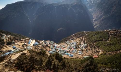 Zdjecie NEPAL / Himalaje / Namche Bazar / Widok na Namche Bazar