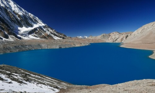 Zdjecie NEPAL / Khangsar / Tilicho Lake / Jezioro 4920 m...