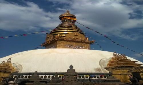 Zdjecie NEPAL / Katmandu / Katmandu / Stupa Swayambunath w Katmandu