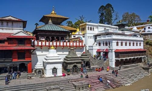 Zdjęcie NEPAL / dolina Katmandu / Katmandu / Świątynia Paśupatinath w Katmandu