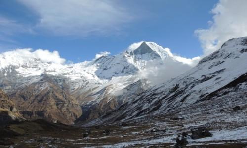 NEPAL / Annapurna Base Camp / Himaleje Machapuchre / majestat gór