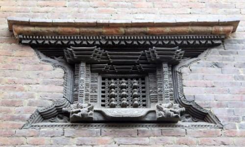 NEPAL / Kotlina Katmandu / Bhaktapur, Nepal / Detal architektoniczny, Durbar Square Bhaktapur. Nepal