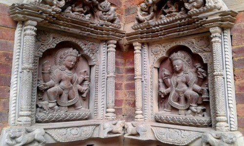 Zdjecie NEPAL / Kotlina Katmandu / Patan, Nepal / Detal architektoniczny, Durbar Square Patan. Nepal