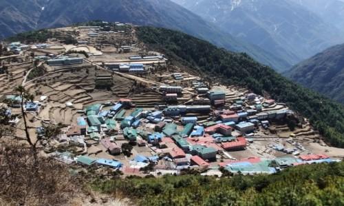 NEPAL / Khumbu / Namche Bazar / Stolica Szerpów