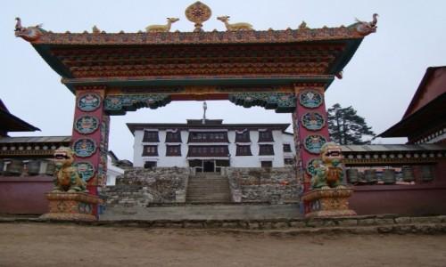 Zdjęcie NEPAL / Himalaje / Tengboche / lasztor w Tengboche