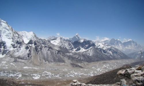 NEPAL / Himalaje / Kala Pattar / Lodowiec Khumbu