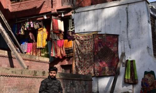 NEPAL / Katmandu / Katmandu / życie na Durbar Square