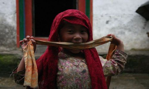Zdjecie NEPAL / Solu Khumbu / brak / mała nepalka