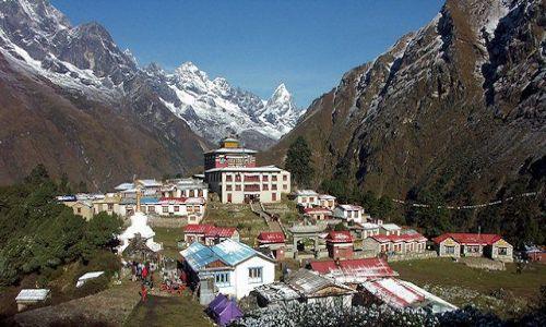 Zdjecie NEPAL / Khumbu / Tengboche / Klasztor w Teng