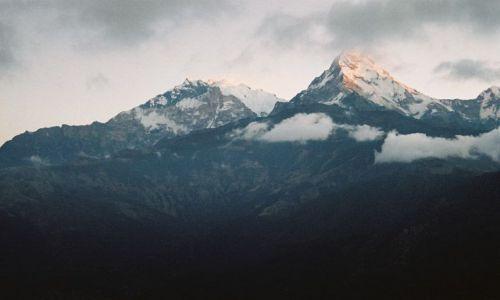 Zdjęcie NEPAL / -Masyw Annapurny / Widok z Poon Hill / Annapurna South (7219) wschód słońca