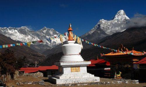 Zdjęcie NEPAL / Khumbu Valley / klasztor w Tengboche  / Stupa