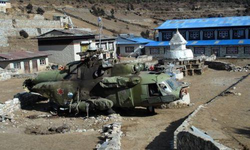 Zdjecie NEPAL / Khumbu Valley / Namche Baazar  / nieudane ladowanie