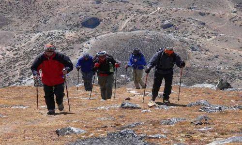 NEPAL / Himalaje / Nangkar Tshang / Wej�cie na Nangkar Tshang