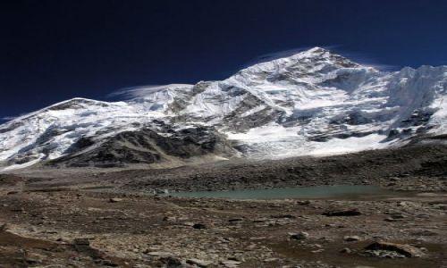 NEPAL / Himalaje / Gorak Shep / Nuptse