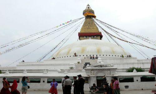 NEPAL / Himalaje / Katmandu / Bodhnath