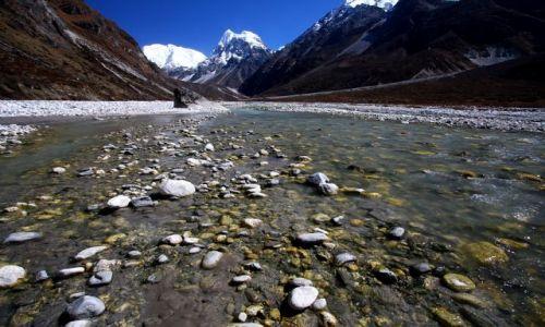 Zdjecie NEPAL / Langatang NP / Langtang / Dolina Langtang i rzeka Langtang