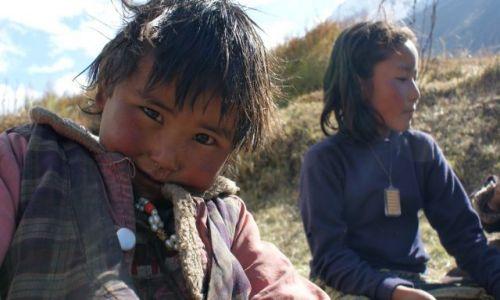 Zdjecie NEPAL / Himalaje / Samdo / Dzieci gór 3860 npm