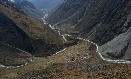 Zdjecie NEPAL / Samdo / Himlaje / Widok z 4500 npm