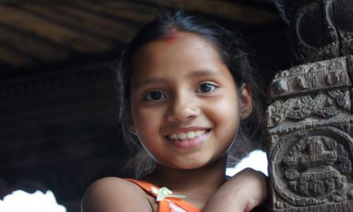 Zdjęcie NEPAL / Kathmandu / Durbar Square / portret